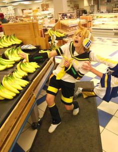 Len and his bananas :D  /cosplay pic not me or taken by me, found on Tumblr