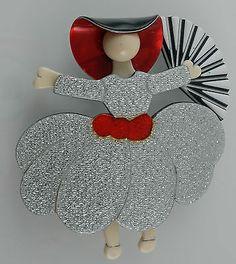 Lea Stein Ballerina Scarlet O'Hara Pin Brooch | eBay