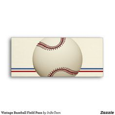 Vintage Baseball Field Pass Envelope