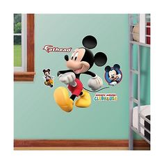 Other Nursery Wall D cor 20430: Fathead Mickey Mouse Fathead Jr. Graphic Wall Dcor -> BUY IT NOW ONLY: $48.46 on eBay!