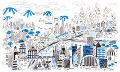 Dream City by alidouglass on Etsy / print by Ali Douglass