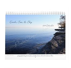 Earth, Sea, & Sky - 2019 Monthly Calendar / Wall Art / Featuring Images of 4 Seasons in Northern NY / Fine Art Photography Fine Art Photography, Life Is Good, Calendar Wall, Earth, Sky, Seasons, Wall Art, Nature, Handmade