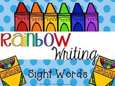 Journey into Reading with Rainbow Writing Sight Words} Kindergarten Literacy, Literacy Activities, Literacy Centers, First Grade Writing, First Grade Math, Math Numbers, Writing Numbers, Sight Word Practice, Sight Words