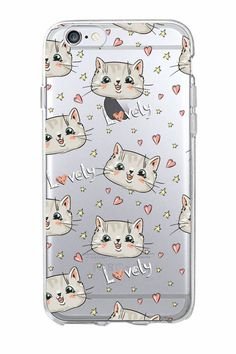 Cute Cartoon Kitty Cat Heart Stripe Lover Meow Soft Phone Case Coque Fundas For iPhone 7 7 Plus 6 6S 6Plus 5 5S SE 5C SAMSUNG