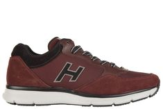HOGAN MEN'S SHOES SUEDE TRAINERS SNEAKERS TRADITIONAL TESSUTO H FLOCK. #hogan #shoes #