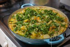 Curry de legumes com grão de bico