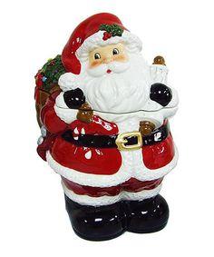 Loving this Santa & Gift Sack Cookie Jar on #zulily! #zulilyfinds