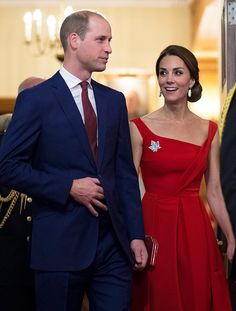 Kate Middleton Turns Heads in Red at Royal Reception in Canada | E! News
