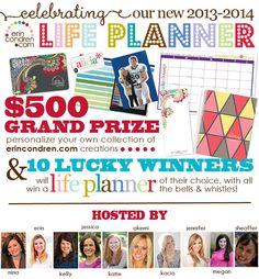 Will you win the Erin Condren Life Planner Giveaway?  #ecNEWlifeplanner