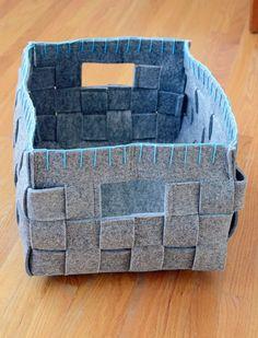 Anu's Customized Woven Felt Storage Baskets