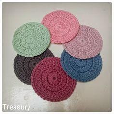 Sugar, spice & everything nice Crochet Home, Diy Crochet, Crochet Ideas, Cotton Cord, Crochet Bookmarks, Crochet Dishcloths, Thread Crochet, Learn To Crochet, Handmade Crafts