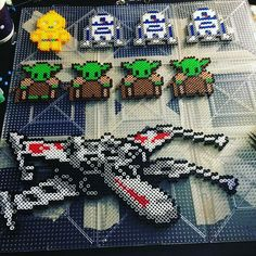 Star Wars stuff perler beads by  wingthroughdesertskies