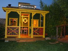 Disney Jungle Cruise children's playhouse. The link shows you how it was made.
