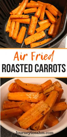 Recipes For Family Delicious air fried roasted carrot recipe. Enjoy healthy carrots in half the time cooked in an air fryer. An easy side dish for family dinners and weeknight meals. A perfect healthy carrot recipe that is delicious and quick. Air Fryer Oven Recipes, Air Frier Recipes, Air Fryer Dinner Recipes, Recipes For Airfryer, Grilling Recipes, Wallpaper Food, Weeknight Meals, Easy Meals, 5 Min Meals