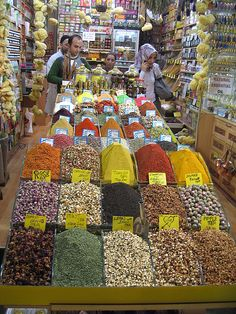 Spices...must smell wonderful there
