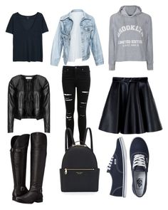 """college must haves"" by kellysiahalim on Polyvore featuring MANGO, Faustine Steinmetz, Ally Fashion, Miss Selfridge, Zizzi, MSGM, Vans, Naturalizer and Henri Bendel"
