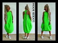Loose Oversized Green Dress /Green maxi dress/Oversize sleeveless dress/innovative tunic / plus size dress by ClothesByLockerRoom on Etsy