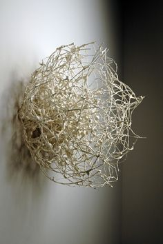 myungjin kim. winter absence. ceramic, steel, 2004