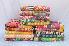 Ancient Indian Art, Cotton Quilts, Cotton Throws, Fabric Remnants, Beach Blanket, Kantha Quilt, Vintage Quilts, Hand Embroidery, Bedspread