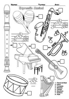 musical instruments 20 super ideas for music instruments worksheet 20 super ideas for music instruments worksheet Preschool Music, Music Activities, Teaching Music, Music Artwork, Art Music, Music Worksheets, Music School, Music For Kids, Elementary Music