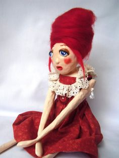 Art Doll  Papier Mâché   Paper Mache Doll by GraceWatsonDesign, £45.00