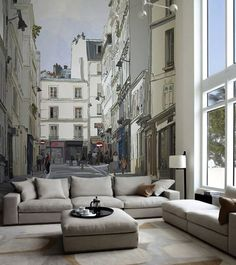 modern living room with creative wall design ideas