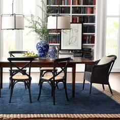 The mesmerizing indigo Spice Market Overdyed Rug adds rich texture and pattern to a space. Each rug is handcrafted and spun using the finest wool we can get our hands on! #mywilliamssonoma