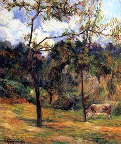 Gauguin. Normandy Landscape: Cow in a Meadow, 1884