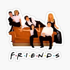 Tv: Friends, Friends Tv Quotes, Friends Scenes, Friends Episodes, Friends Poster, Friends Cast, Friends Moments, Preppy Stickers, Cute Laptop Stickers
