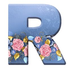 Sussurro de Amor: Alfabeto Decorativo Textura Azul Rosas Fathers Day Banner, Boss Baby, Alphabet And Numbers, Projects To Try, Butterfly, Symbols, Pink, Garden, Blue