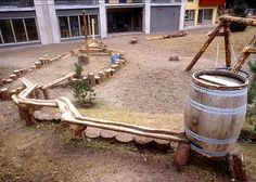 Kindergarten. Photo: Frode Svane Love the natural wood planks for waterway