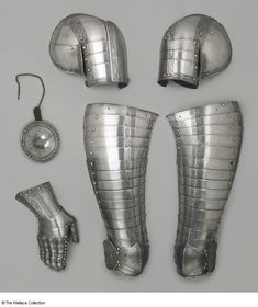 Parts of an armour  Wolfgang Grosschedel (1517 - 1562), Armourer  Landshut, Germany  c. 1560