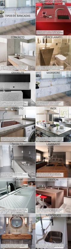 Tipos de Bancada – Coelho Lima Architecture Details, Interior Architecture, H & M Home, Dream House Plans, Interior Exterior, Home Hacks, Interiores Design, Decoration, Home Projects