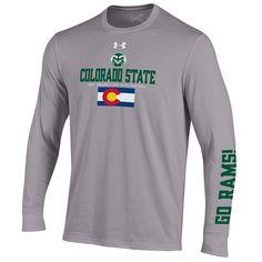 26556d31 Grey Colorado State Pride Long Sleeve Under Armour Tee Colorado State Flag, Colorado  State University