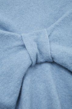 COS image 6 of Bow back jumper in Blue Greenish