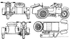 BMW R75 (1942) Theatrical Scenery, Old Car Parts, Motorcycle Engine, Car Sketch, Military Art, Dieselpunk, World War Two, Line Drawing, Motorbikes