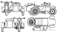 KMZ (Kiev motorcycles) heavy bike series, old style, with