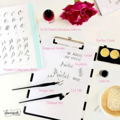 Modern Calligraphy 101: The Basic Supplies you'll need to get started with practicing + free practice sheets!   dawnnicoledesigns.com