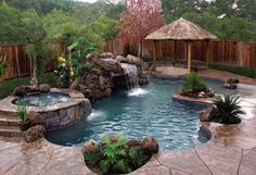 Pool ideas for small spaces to Turn the Backyard into a Relaxing Retreat. tags: backyard ideas, swimming pool design, backyard pool ideas on budget, small backyard pool, backyard pool lanscaping. Backyard Pool Landscaping, Backyard Pool Designs, Landscaping Ideas, Backyard Ideas, Pool For Small Backyard, Oasis Backyard, Back Yard Oasis, Small Pool Ideas, Nice Backyard