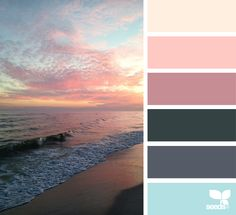 Heavenly Hues via @designseeds #designseeds #seedscolor #color #colorpalette #color #palette #colour #colourpalette #peach #gray #grey #sunset