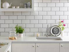 Metro White Wall Tile (20x10cm) | Topps Tiles