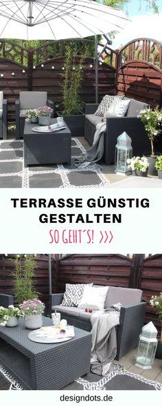 DIY Terrasse Günstig Selber Bauen, Gestalten Und Renovieren; Sichtschutz,  Terrasse Dekorieren Ideen,