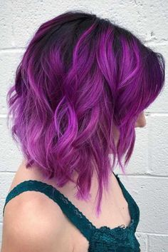 Inspiring Shades of Purple Ombre Hair ★ See more: http://lovehairstyles.com/purple-ombre-hair/