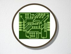 Circuit Board Cross Stitch ~ Love this since I worked in the electronics industry for 14+ years!