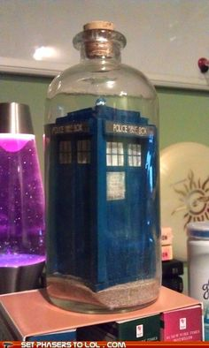 TARDIS in a bottle... Now I just need to get in there.