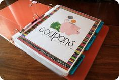 coupon binder- works well in that we always know where they are, but we still have a lot of coupons that go past the expiration date lol