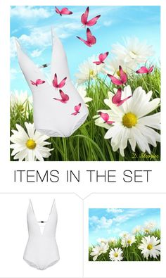 """Butterfly Swimsuit"" by deborah-strozier ❤ liked on Polyvore featuring art and modern"
