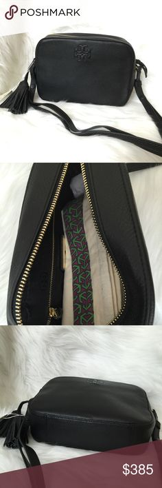 """Tory Burch Thea Shoulder Bag Brand new with tag and dust bag. 100% authentic. Ask if you need more pictures. DETAILS & FIT Holds a mini wallet, a camera, a notebook, an agenda, sunglasses, an iPhone 6 Plus and a fragrance rollerball Pebbled leather Top zipper closure Adjustable cross-body strap with 23.31"""" (58.5 cm) drop 1 interior zipper pocket, 2 open pockets Removable tassels Height: 6.97"""" (17.5 cm) Length: 9.36"""" (23.5 cm) Depth: 2.79"""" (7 cm) Tory Burch Bags Shoulder Bags"""