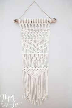 Macrame wall hanging 100% cotton rope HipsyWybou by HipsyLoop
