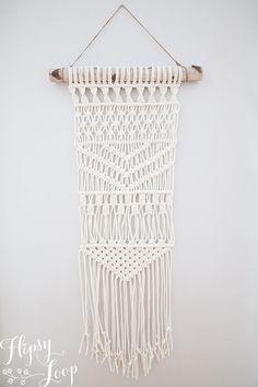 Macrame wall hanging 100% cotton rope HipsyWybou by HipsyLoop